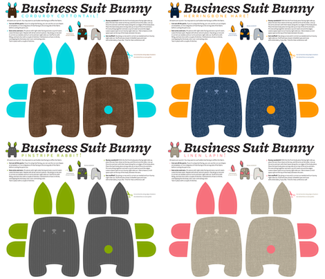 Business Suit Bunny fabric by monmeehan on Spoonflower - custom fabric
