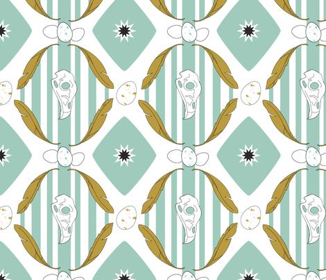 bird skulls fabric by kateg on Spoonflower - custom fabric