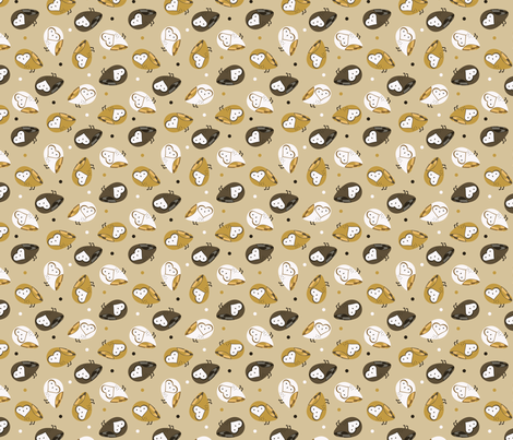 Sweetheart Owls fabric by amanda_guardado on Spoonflower - custom fabric