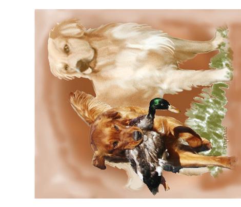 golden retriever fat quarter fabric by dogdaze_ on Spoonflower - custom fabric