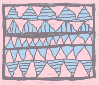 NP-Powder blue cutouts on pink