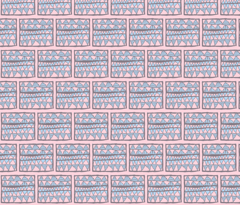 NP-Powder blue cutouts on pink fabric by su_g on Spoonflower - custom fabric