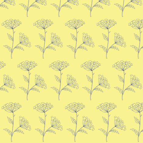 Fleur Yellow fabric by redhange on Spoonflower - custom fabric