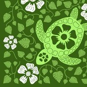 Rrhawaiian_quilt_v10_white_flowers_on_turtle_rectangle_greens2.ai_shop_thumb