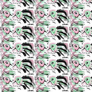 pink_mint_green_black_and_white_love_birds__by_marilyn