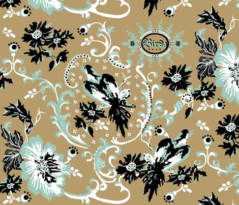 birds of paradise / khaki fabric by paragonstudios on Spoonflower - custom fabric