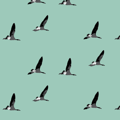 Canadian Geese in Flight fabric by nb_design on Spoonflower - custom fabric