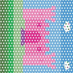 Blossom Dots Princess Castle Cheater Quilt