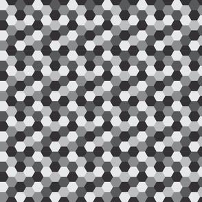 Honeycomb - Greyscale