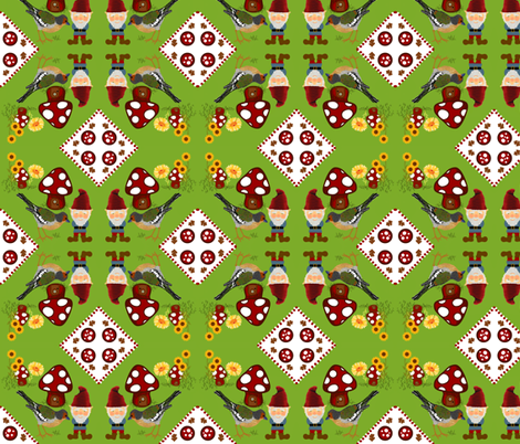 Gnomeville / birdie cheater quilt fabric by paragonstudios on Spoonflower - custom fabric