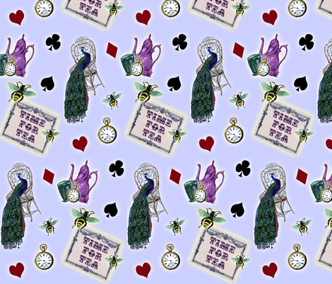 Time for Tea fabric by glanoramay on Spoonflower - custom fabric