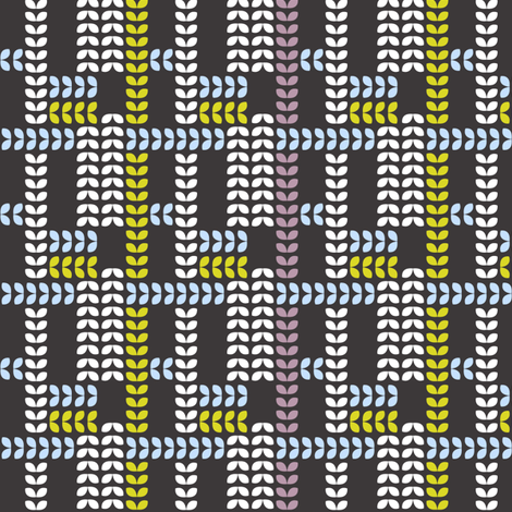 Plaid Leaves fabric by alisontauber on Spoonflower - custom fabric