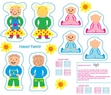 happy family fabric by tgsn on Spoonflower - custom fabric