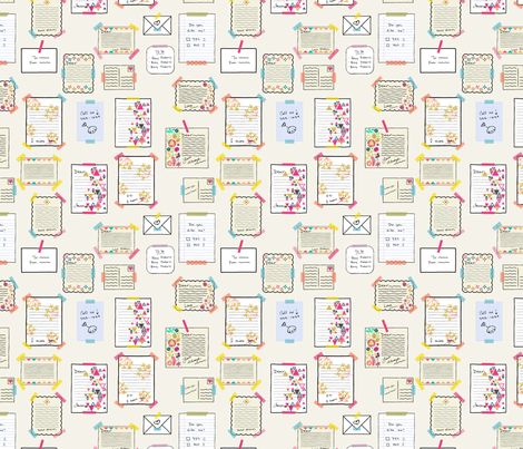 Letters - OffWhite fabric by iheartlinen on Spoonflower - custom fabric