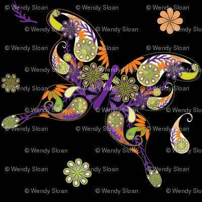 Halloween Butterfly Fabric