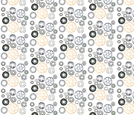 motorbike_and_bike_brake_discs fabric by vinkeli on Spoonflower - custom fabric