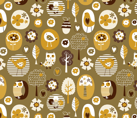 tweety chirp chirp hoot 01 fabric by amel24 on Spoonflower - custom fabric