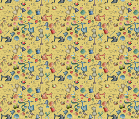 Sewing tools fabric by catru on Spoonflower - custom fabric