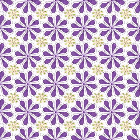 Halloween Flower on White fabric by mainsail_studio on Spoonflower - custom fabric
