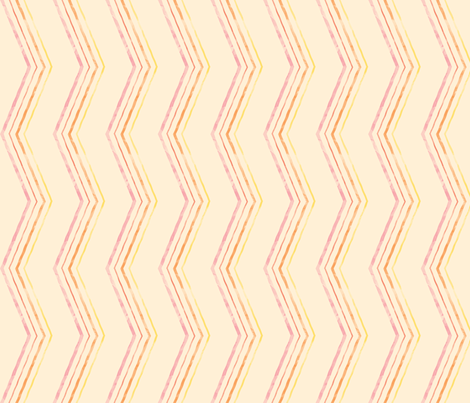 Painted Quirky Stripe (Warm) fabric by leighr on Spoonflower - custom fabric