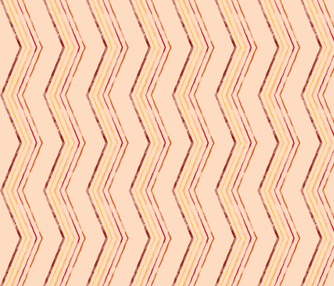 Painted Quirky Stripe (Retro) fabric by leighr on Spoonflower - custom fabric