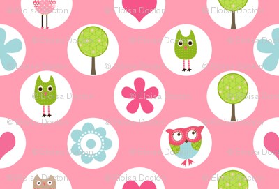 Whimsy Owls Dots