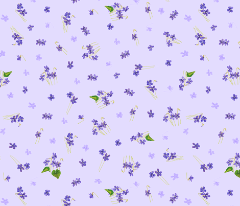 Violets (Light) fabric by pyralisdesign on Spoonflower - custom fabric