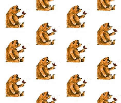 Bear Meets a New Friend fabric by taraput on Spoonflower - custom fabric