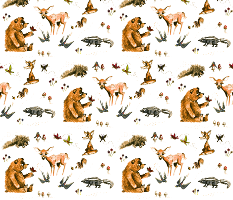 Forest Friends fabric by taraput on Spoonflower - custom fabric