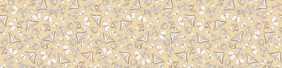 My Garden Toile Butterflies Ditsy - Khaki Beige ©2011 by Jane Walker