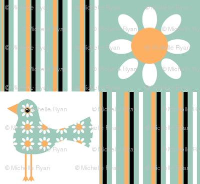 Birds, Flowers, Stripes