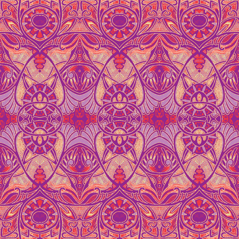 Victorian Gothic (in little girl colors) fabric by edsel2084 on Spoonflower - custom fabric