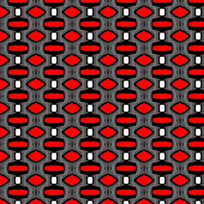 Red Black and White Geo