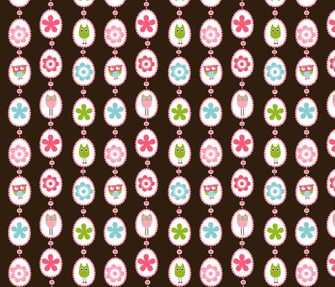 Owls Medallions fabric by natitys on Spoonflower - custom fabric