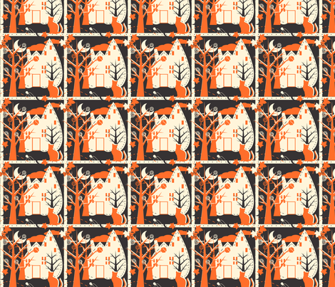 Classically Halloween fabric by eppiepeppercorn on Spoonflower - custom fabric