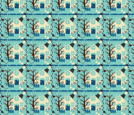 Icy Blue Winter fabric by eppiepeppercorn on Spoonflower - custom fabric