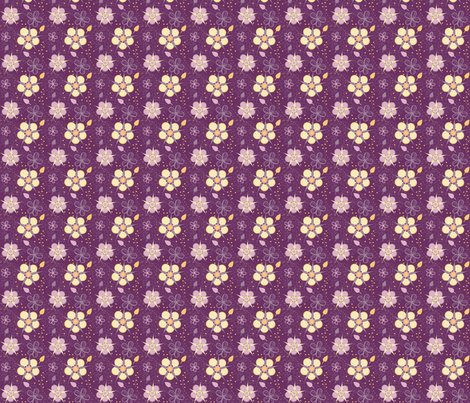 Pretty Moon Flowers fabric by eppiepeppercorn on Spoonflower - custom fabric