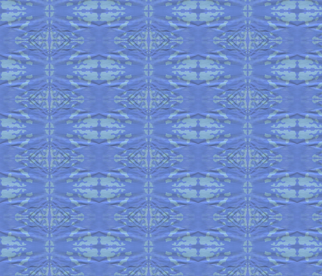 Blue Formal Waves and Clouds II fabric by robin_rice on Spoonflower - custom fabric