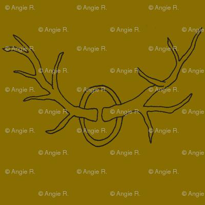 Antlers on Brown