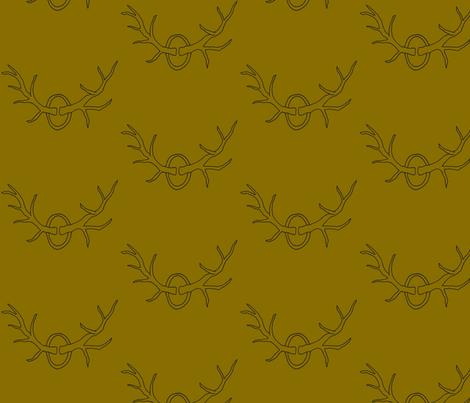 Antlers on Brown fabric by redhange on Spoonflower - custom fabric
