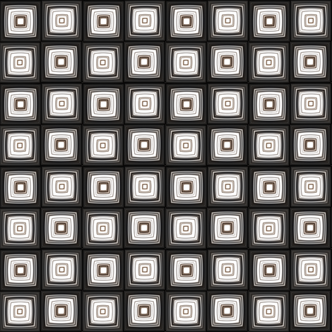 Black White and Brown Retro Squares © 2011 Gingezel  fabric by gingezel on Spoonflower - custom fabric
