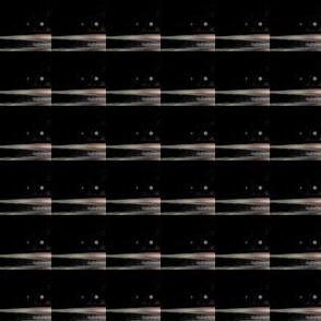 3 AM Beige Stripe on Black