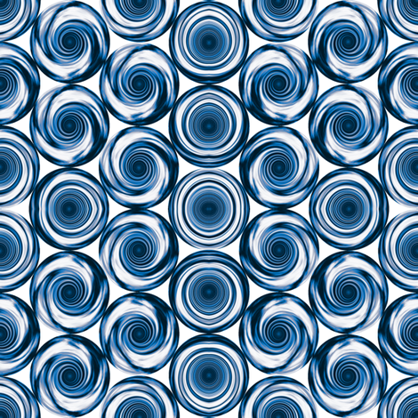 Navy Blue Stacked Spirals © 2011 Gingezel™ Inc. fabric by gingezel on Spoonflower - custom fabric