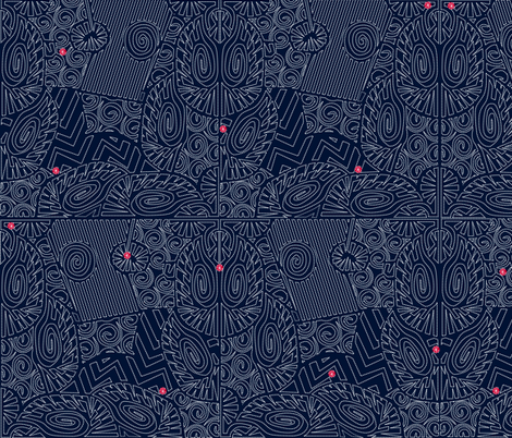 ©2011 Stitchery fabric by glimmericks on Spoonflower - custom fabric