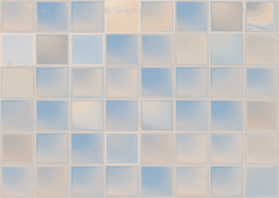 Beige and Blue Tiles © 2011 Gingezel™ Inc.