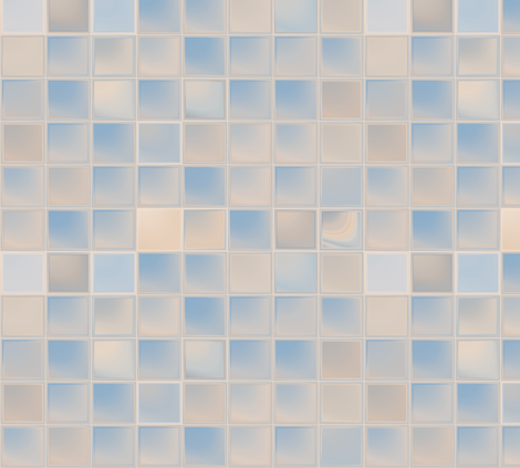 Beige and Blue Tiles © 2011 Gingezel™ Inc. fabric by gingezel on Spoonflower - custom fabric