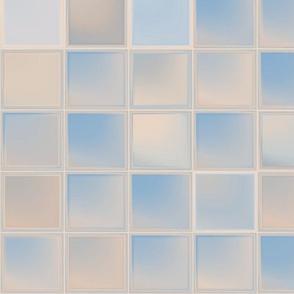 Beige and Blue Tiles © 2011 Gingezel™ Inc.