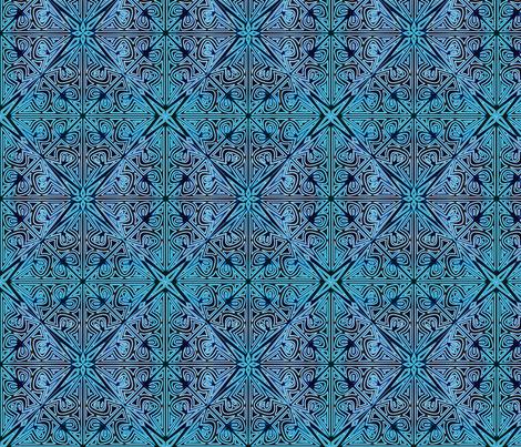 ©2011 Cutwork -  Peacock fabric by glimmericks on Spoonflower - custom fabric