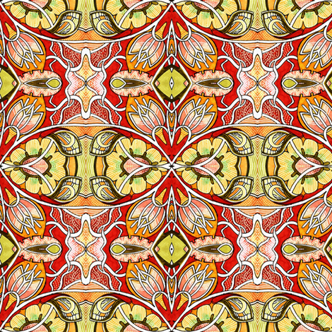 Electric Gardening (In Orange We Trust) fabric by edsel2084 on Spoonflower - custom fabric