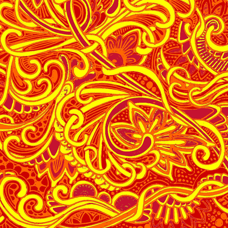 Dreams on Fire fabric by edsel2084 on Spoonflower - custom fabric